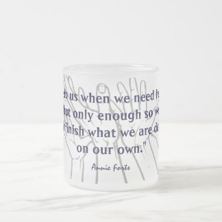 On our own frosted glass coffee mug