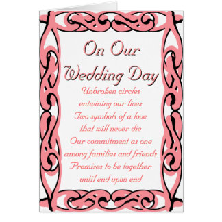 On Our Wedding Day: End Upon End Card