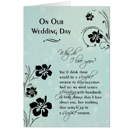 on our wedding day why do i love you card