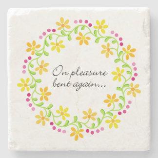 On pleasure bent again - Austen Pride & Prejudice Stone Coaster