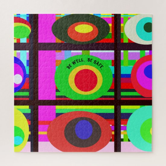 On Point Contemporary Artful Trend Circles Jigsaw Puzzle