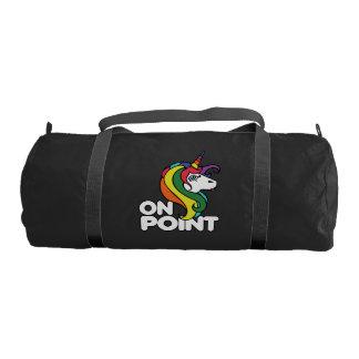 On Point retro rainbow unicorn Duffle Bag
