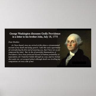On Providence, George Washington - Block Poster