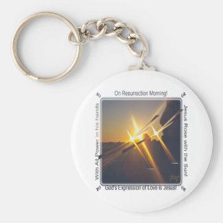On Resurrection Morning Basic Round Button Keychain