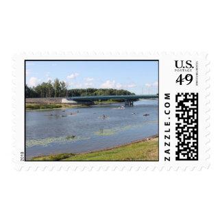 On river Kotorosl in Yaroslavl Postage Stamps