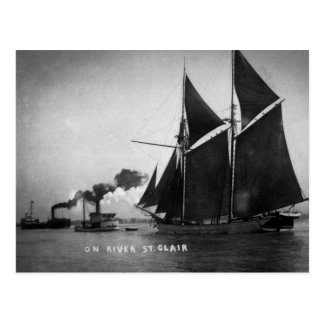 On River St. Clair Vintage Louis Pesha 1900 Postcard