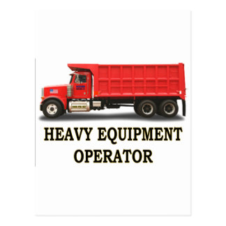 ON ROAD DUMP TRUCK POSTCARD