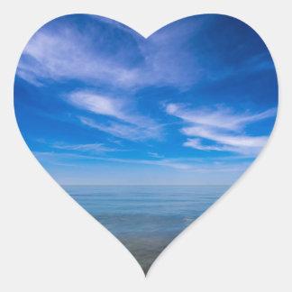 On shore of the Baltic Sea Heart Sticker