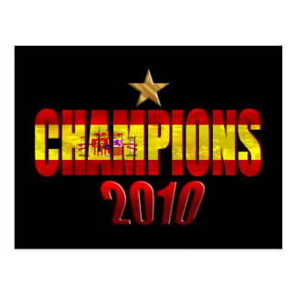 On Star 2010 Champions Flag of Spain gift Postcard