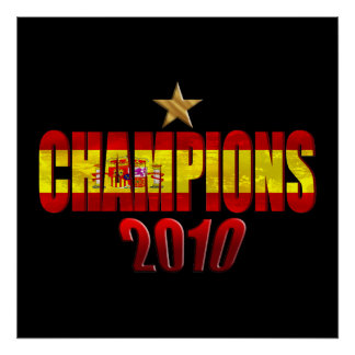 On Star 2010 Champions Flag of Spain gift Posters