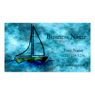 On Stormy Seas Sailboat Business Cards