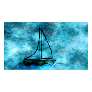On Stormy Seas Sailboat Business Card