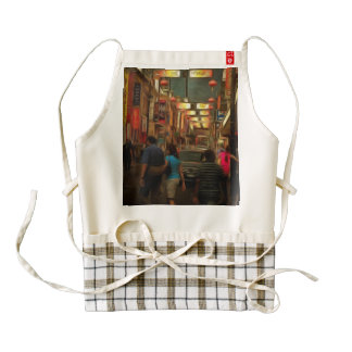 On streets of Melbourne Zazzle HEART Apron