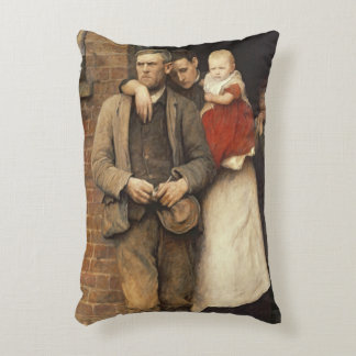 On Strike, c.1891 Accent Pillow