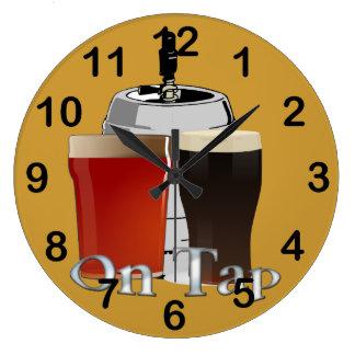 On Tap - Beer / Keg Round Wall Clock