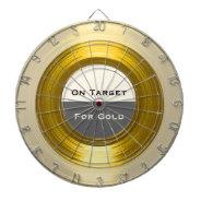 On Target For Gold - A Corporate Record Dartboard at Zazzle