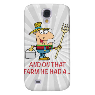 ON THAT FARM HE HAD A old macdonald farmer Galaxy S4 Cover