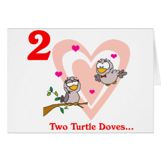 On the 2nd Day of Christmas two Turtle Doves Card