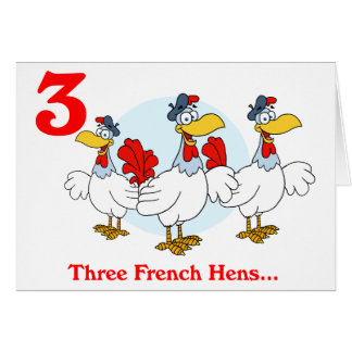 French Hens Greeting Cards | Zazzle