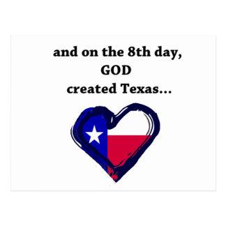 On the 8th Day, God created Texas Postcard