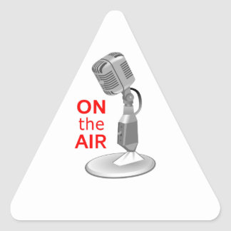 ON THE AIR TRIANGLE STICKER
