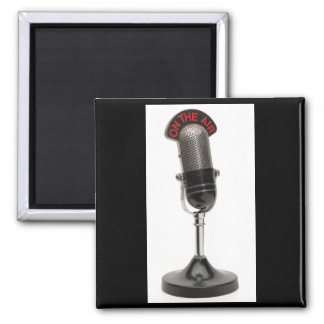ON THE AIR Vintage Microphone Magnet