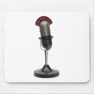 ON THE AIR Vintage Microphone Mouse Pad