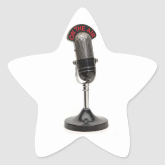 ON THE AIR Vintage Microphone Star Stickers