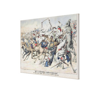 On the Algero-Moroccan Frontier, a French Canvas Print