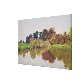 On the Arun, Stoke, Sussex Canvas Print