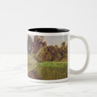 On the Arun, Stoke, Sussex Two-Tone Coffee Mug