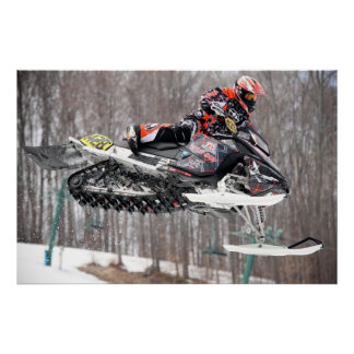 On the Attack Snowmobile Print