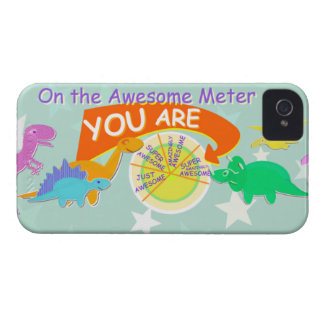On the Awesome Meter You Are Cute Dinosaurs iPhone 4 Case-Mate Case