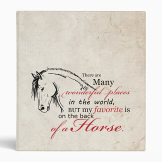 On the Back of a Horse 3 Ring Binder