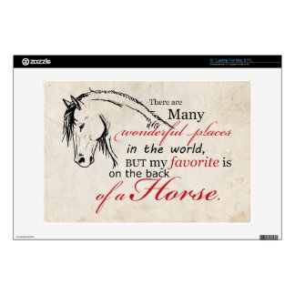 On the Back of a Horse Decals For Laptops