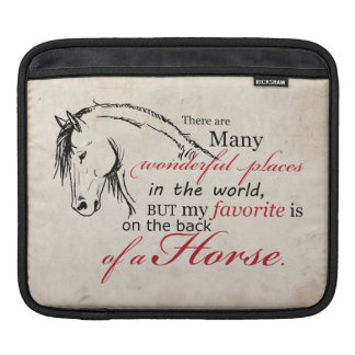 On the Back of a Horse iPad Sleeves