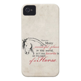 On the Back of a Horse iPhone 4 Case