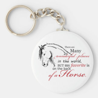 On the Back of a Horse Key Chain