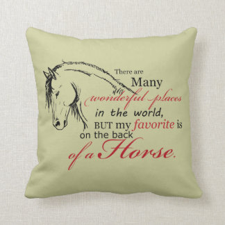 On the Back of a Horse Pillow