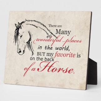 On the Back of a Horse Plaque