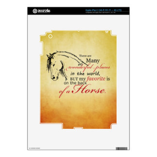On the Back of a Horse iPad 3 Skin