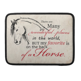 On the Back of a Horse Sleeve For MacBooks