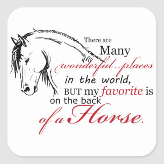 On the Back of a Horse Square Stickers