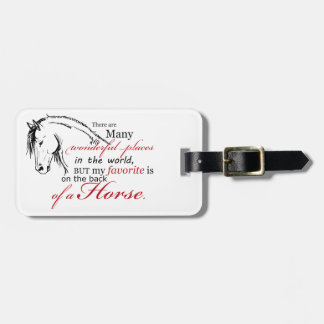 On the Back of a Horse Travel Bag Tag