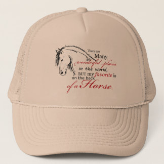 On the Back of a Horse Trucker Hat