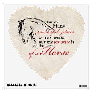On the Back of a Horse Wall Sticker