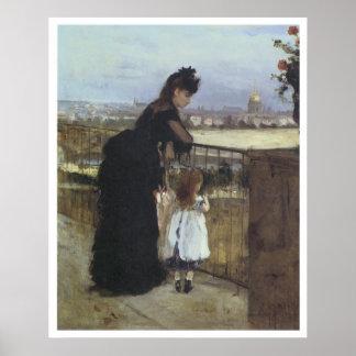 On the Balcony, 1871-72 Berthe Morisot Print