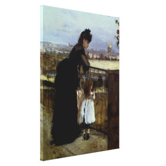 On The Balcony by Berthe Morisot Canvas Print