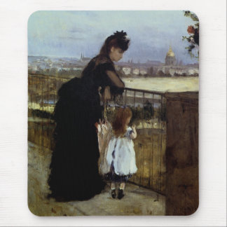 On The Balcony by Berthe Morisot Mouse Pad