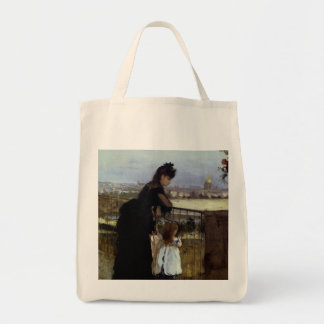 On The Balcony by Berthe Morisot Tote Bag